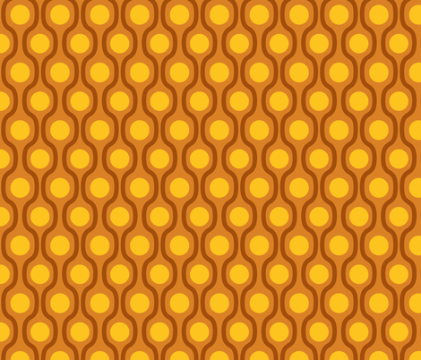 waves and dots brown yellow fabric by tailorfairy on Spoonflower - custom fabric