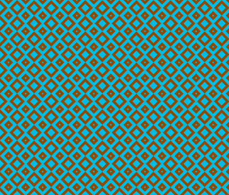 boxes brown-blue fabric by tailorfairy on Spoonflower - custom fabric