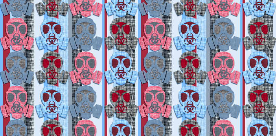 colorful_gasmasks fabric by susiprint on Spoonflower - custom fabric