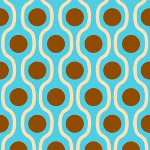 waves and dots blue-brown