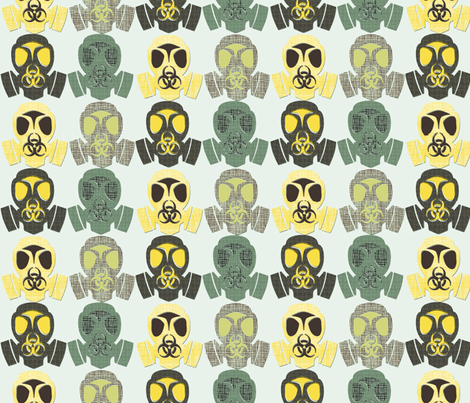 gas mask fabric by susiprint on Spoonflower - custom fabric