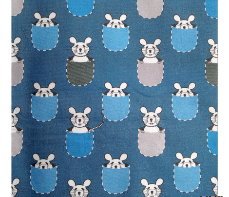 White mouse in pocket (Blue)