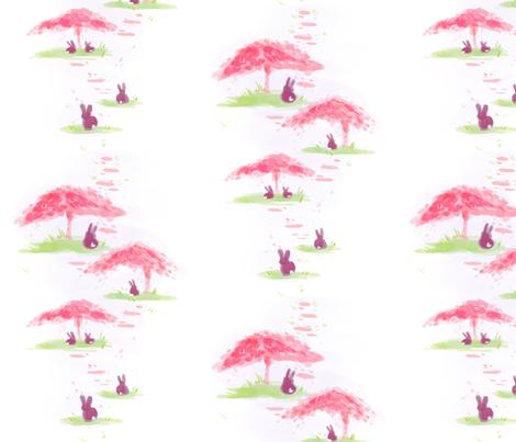 Bunny & Blossom fabric by kyrarosedesign on Spoonflower - custom fabric