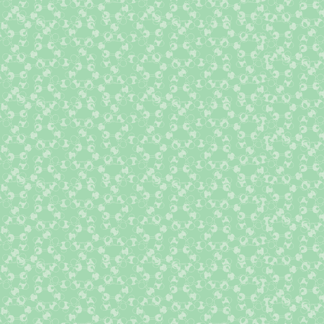 molecules_on_green_light fabric by susiprint on Spoonflower - custom fabric