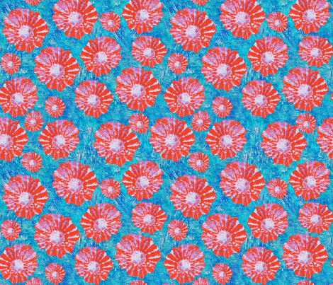 Poppies fabric by taramcgowan on Spoonflower - custom fabric