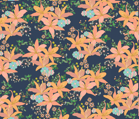 Lilies fabric by zeinab on Spoonflower - custom fabric