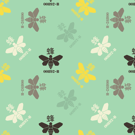 Moths on green fabric by susiprint on Spoonflower - custom fabric