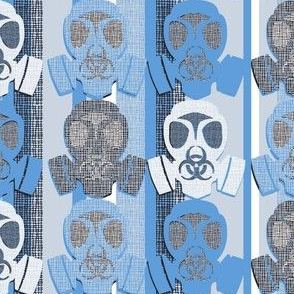 Gas Mask on Blue