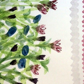 WatercolorFloralStripe