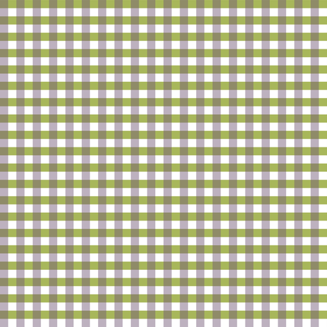 Green and Pale Blue-purple Gingham. fabric by house_of_heasman on Spoonflower - custom fabric