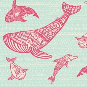 whale doodles