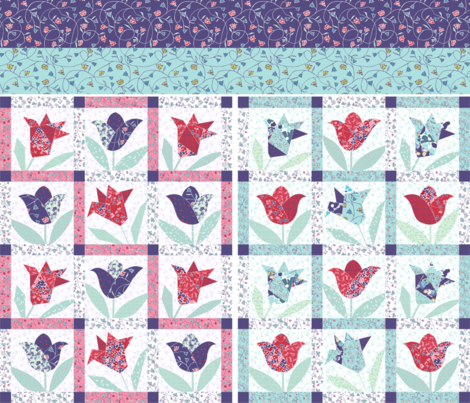 doll quilts fabric by karinka on Spoonflower - custom fabric