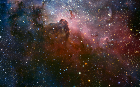Carina Nebula 58x85 inches fabric by spacefem on Spoonflower - custom fabric
