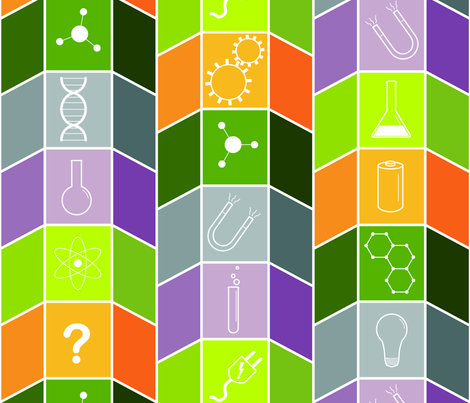 Science Fair Boards fabric by medamade on Spoonflower - custom fabric