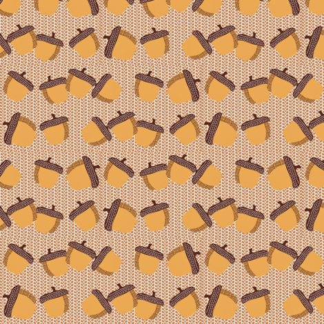 Acorns on woven background fabric by vanillabeandesigns on Spoonflower - custom fabric