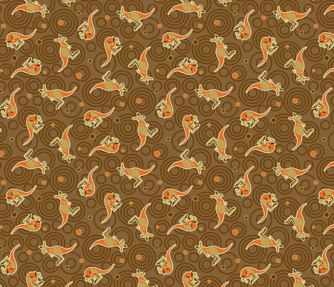 Aussie Kangaroo 45 fabric by cjldesigns on Spoonflower - custom fabric