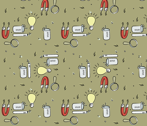 Sweet on Science fabric by molipop on Spoonflower - custom fabric