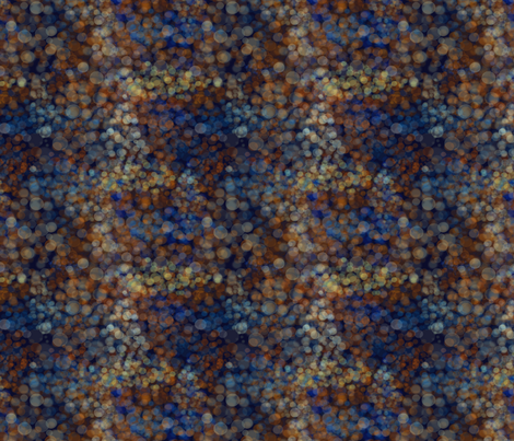 Light reflections in blue and gold fabric by redbicycle on Spoonflower - custom fabric