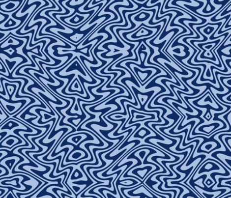 Art nouveau butterfly swirls - blue fabric by weavingmajor on Spoonflower - custom fabric