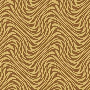 Art Nouveau feather swirl - caramel