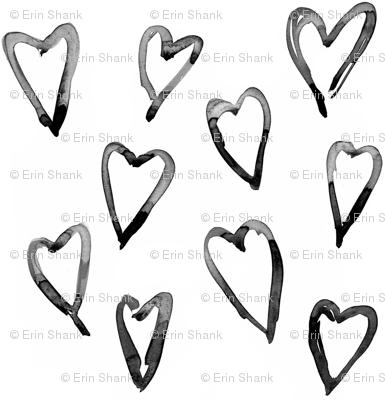 large hearts black