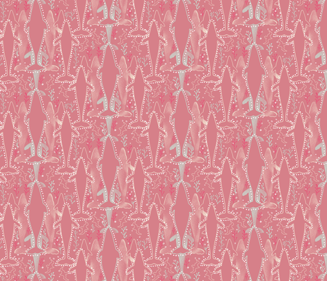 Whales on Dusty Rose fabric by vinpauld on Spoonflower - custom fabric