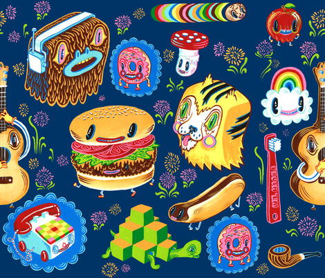 Snack_Garden fabric by tripper_dungan on Spoonflower - custom fabric