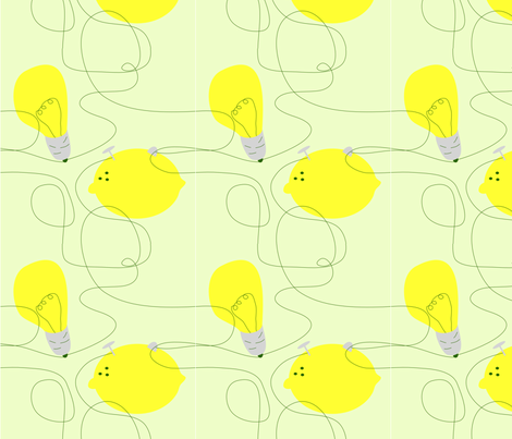 lemon_lighting fabric by renateandtheanthouse on Spoonflower - custom fabric
