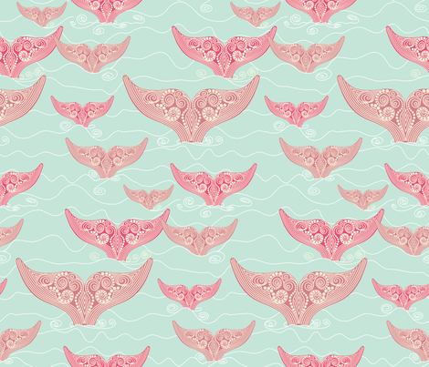A_Whale_of_a_Tail fabric by house_of_heasman on Spoonflower - custom fabric