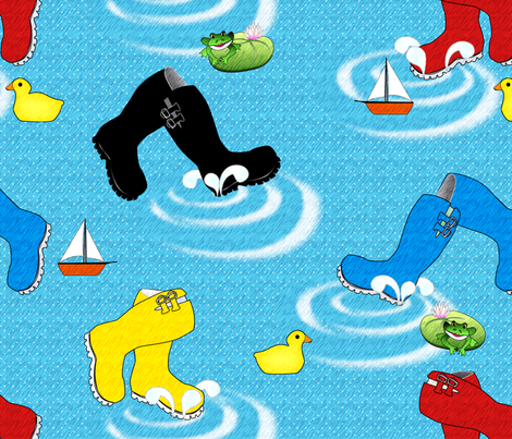 Puddle_Jumpers_II fabric by glimmericks on Spoonflower - custom fabric
