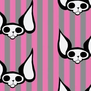 Sphynxiebonez Stripes Pink & Grey