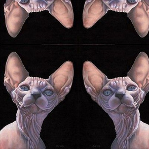 Cattitude Sphynx from Paintng