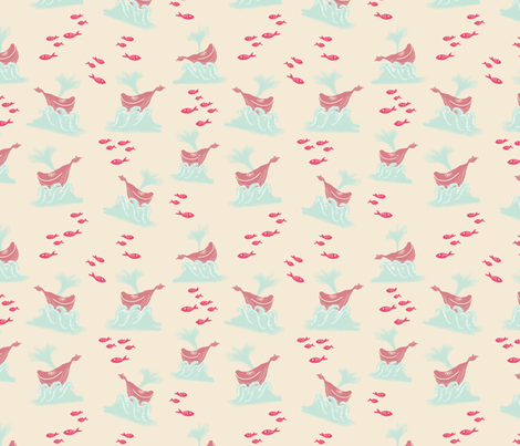 A life aquatic fabric by redbicycle on Spoonflower - custom fabric