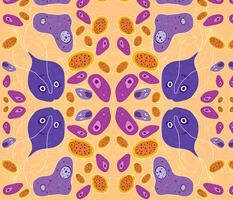 Staining for Trophozoites / Mirror fabric by vanillabeandesigns on Spoonflower - custom fabric