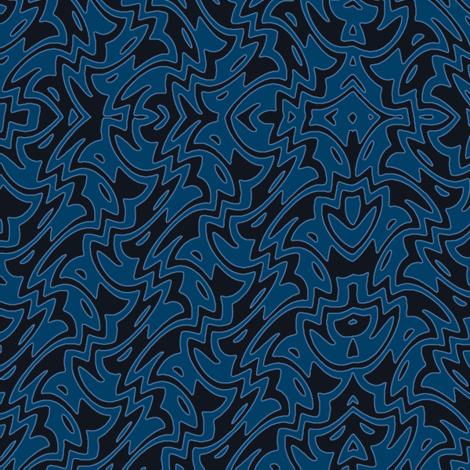 Art Deco Chevron in twilight blues fabric by weavingmajor on Spoonflower - custom fabric