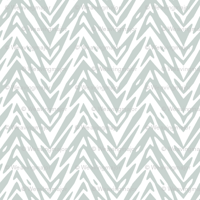 feather herringbone in white and grey