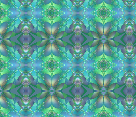 Aqua Bubble Fractal fabric by gingezel on Spoonflower - custom fabric