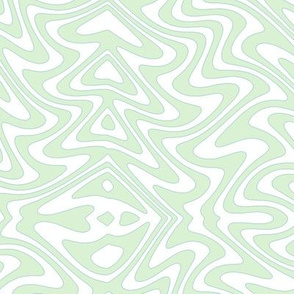 Art nouveau butterfly swirls - pale mint