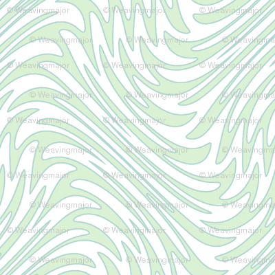 Art Nouveau feather swirl - pale mint
