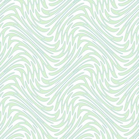 Art Nouveau feather swirl - pale mint fabric by weavingmajor on Spoonflower - custom fabric