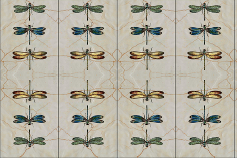 dragonflys ditty bag fabric by the_cornish_crone on Spoonflower - custom fabric