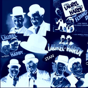 LAUREL AND HARDY NEGATIVE COLLAGE