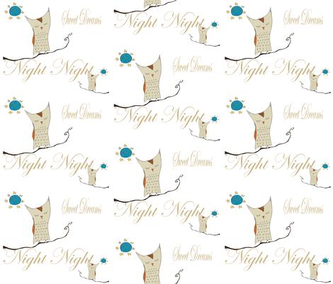 Night Night Owl fabric by therustichome on Spoonflower - custom fabric