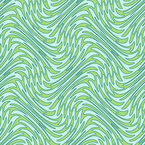 Art Nouveau feather swirl - serene greens fabric by weavingmajor on Spoonflower - custom fabric