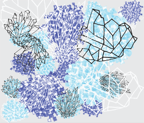 how to grow crystals  fabric by bishopart on Spoonflower - custom fabric