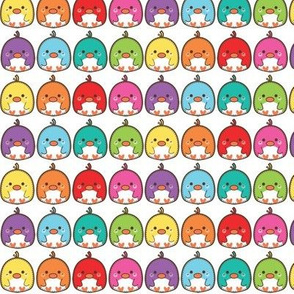 Rainbow mini birds