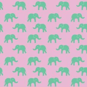 elephant pink mint