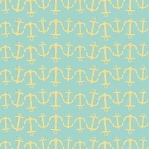 anchor wave yellow seafoam