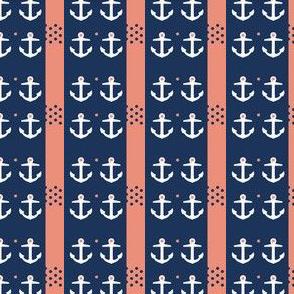 anchor 4 coral n navy