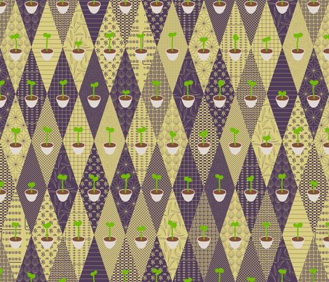 Radish sprouts with different treatments fabric by mongiesama on Spoonflower - custom fabric